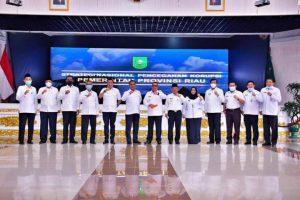 Bupati Kampar Ikuti Rakor KPK Tentang Strategi Nasional Pencegahan Korupsi.