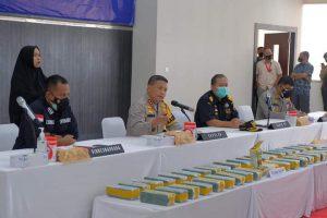Polda Riau Sita 40 KG Shabu dan 50 Ribu Butir Pil Ekstasi Dihari ke-10 Operasi Antik 2021