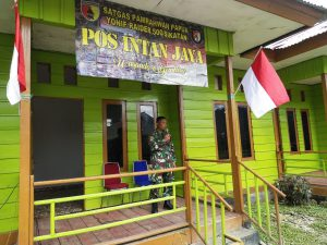 Pos TNI di Sugapa, Intan Jaya menciptakan Keamanan dan Ketentraman di Wilayah Papua.