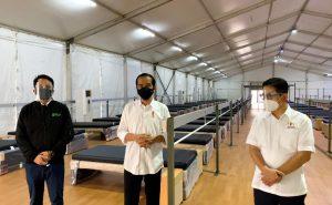 Presiden Joko Widodo Tinjau Rumah Oksigen Gotong Royong