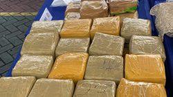 Tim Polda Riau Sita 87 Kg Shabu dan Tangkap 7 Orang Sindikat Narkoba Antar Negara
